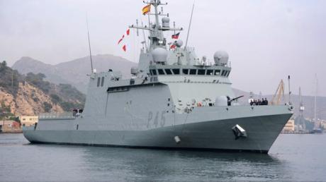 Die spanischen Regierung entsendet das Patrouillenschiff