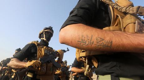 Mitglieder der PMF (Popular Mobilization Forces), Basra, Irak, 31. Januar 2019.