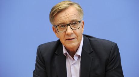 (Archivbild). Dietmar Bartsch während einer Pressekonferenz in Berlin, Deutschland 25. September 2017.