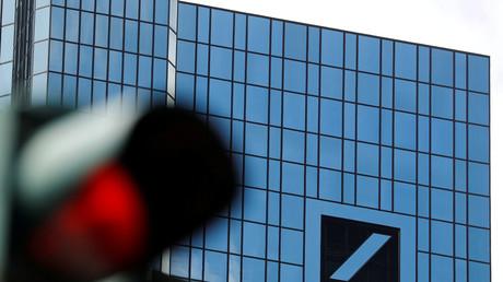 Hauptsitz der Deutschen Bank, Frankfurt am Main, Deutschland, 8. Juli 2019.