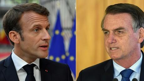 Frankreichs Präsident Emmanuel Macron (l.) soll