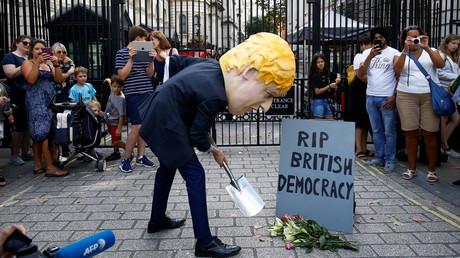 Totengräber der Demokratie? Proteste gegen Boris Johnson am Mittwoch in London