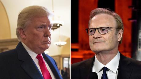 Lawrence O'Donnell und US-Präsident Donald Trump