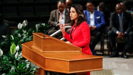Die Führung der Demokraten will sie nicht bei Vorwahl-Debatte dabei haben, die live im Fernsehen übertragen wird: Die US-Präsidentschaftskandidatin Tulsi Gabbard. (Chicago, 26. Juli 2019)
