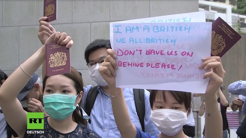Geschichtsvergessen: Demonstranten in Hongkong bitten Ex-Kolonialmacht um Hilfe (Video)