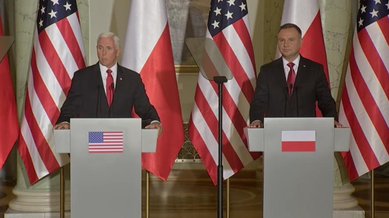 """Mike Pence in Polen: """"Werden 1.000 weitere Soldaten in die 'Zitadelle der Freiheit' entsenden"""""""