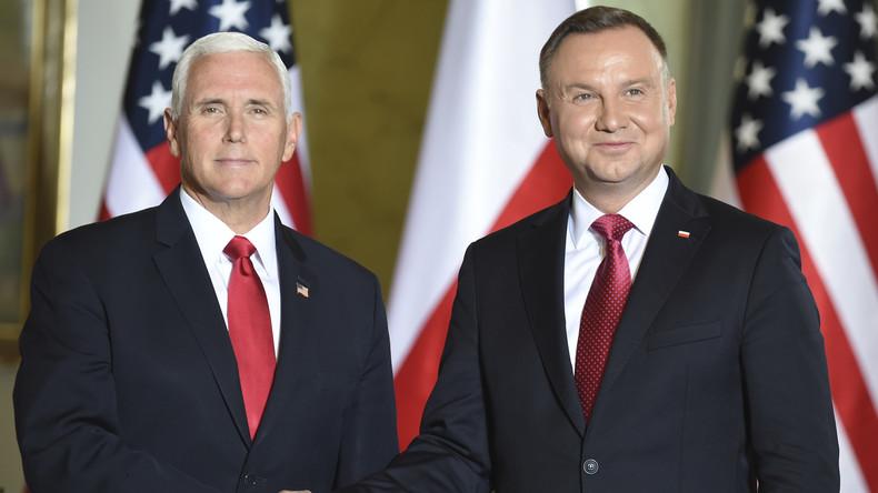 """Mike Pence in Warschau: Polen ist """"Hochburg der Freiheit"""""""