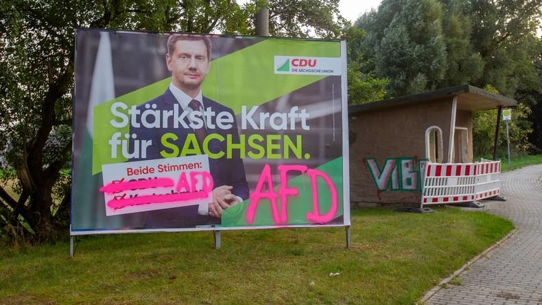 Sachsen: Mehrheit der CDU-Anhänger gegen Koalition mit AfD