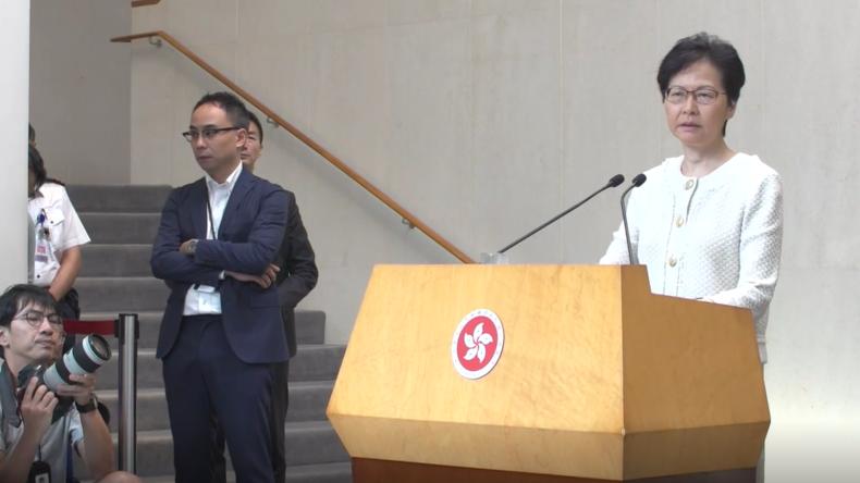 Hongkong: Regierungschefin warnt USA vor Einmischung in innere Angelegenheiten