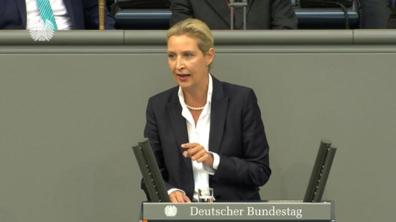 """AfD-Vorsitzende Weidel zur Bundesregierung: """"Sie ruinieren Deutschland!"""""""