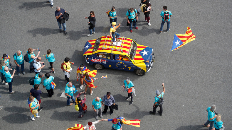 LIVE: Pro-Unabhängigkeitsprotest in Barcelona am Nationalfeiertag Kataloniens