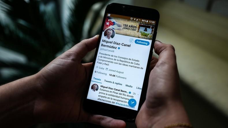 Twitter sperrt Accounts führender Medien Kubas während Ansprache von Präsident Miguel Díaz-Canel