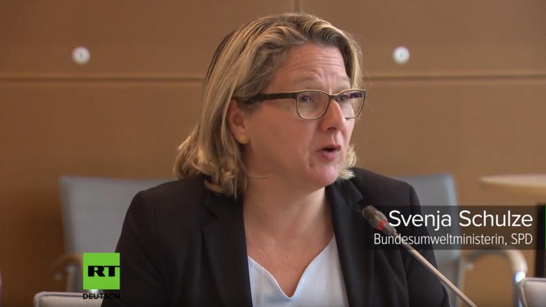 Bundesumweltministerin Svenja Schulze will CO2-Steuer nicht überbewerten