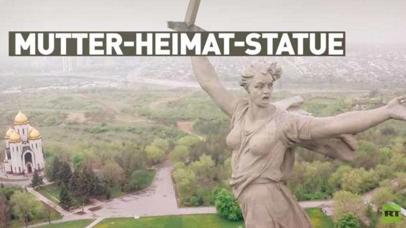 Mutter-Heimat-Statue in Russland: Erste große Rekonstruktion seit Errichtung (Drohnenvideo)