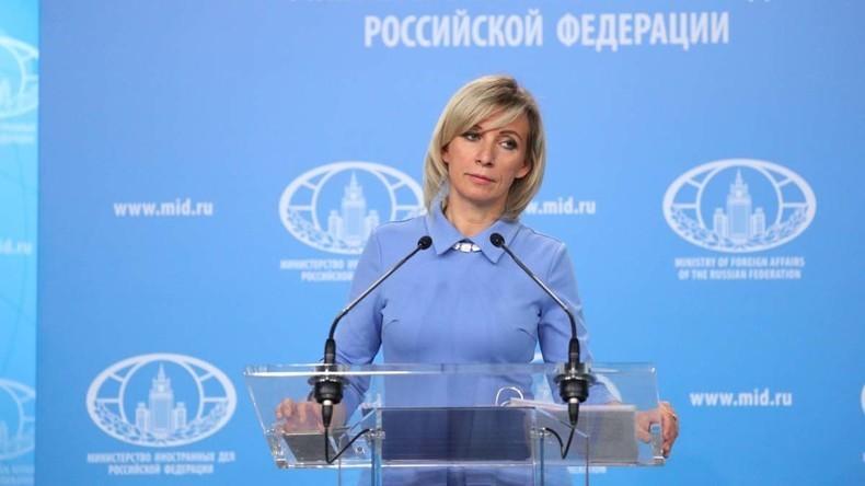 LIVE: Sprecherin des russischen Außenministeriums Marija Sacharowa gibt Pressekonferenz