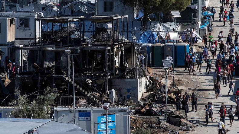 Ausschreitungen in Flüchtlingslager auf Lesbos nach Brand mit mehreren Toten
