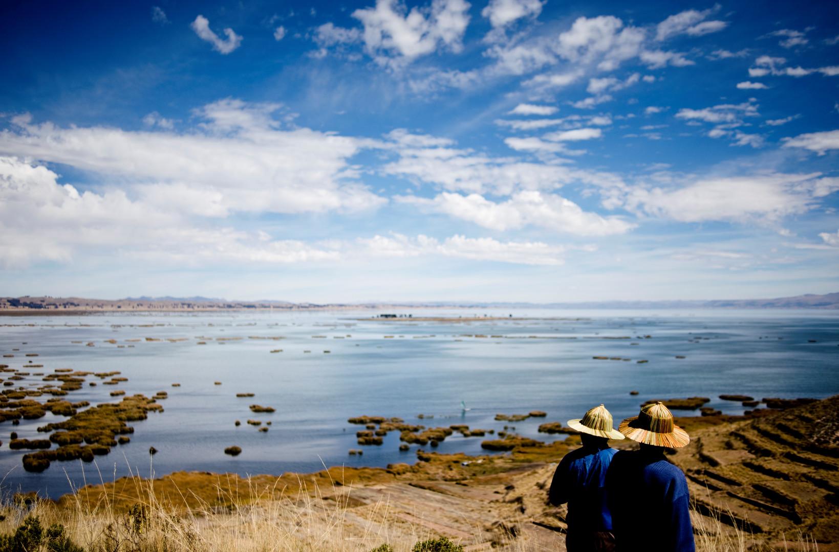 Limachi arbeitet mit seinem Schwiegersohn als Reiseleiter am Titicacasee