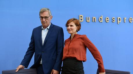 Geraten parteiintern unter Druck: Die Linke-Vorsitzenden Bernd Riexinger und Katja Kipping am Montag in Berlin