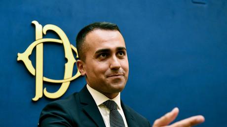 Der Vorsitzende der Fünf-Sterne-Bewegung Luigi Di Maio bei der Pressekonferenz zur Online-Abstimmung über die Regierungsbildung mit den Sozialdemokraten am 3. September in Rom