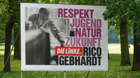 Wahlplakat der sächsischen Linken im August 2019