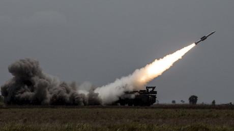 Einsatz eines Buk-Flugabwehrsystem der venezolanischen Streitkräfte im Zuge des Manövers