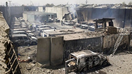 Eine massive Explosion erschütterte Kabul am späten Abend des 2. September, als ein mit Sprengstoff beladener Traktor in der Nähe der