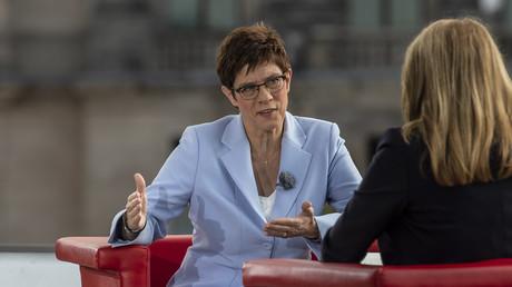 Die CDU-Vorsitzende Annegret Kramp-Karrenbauer am 8. September 2019 beim ARD-Sommerinterview im