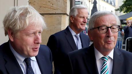 Der britische Premierminister Boris Johnson am 16. September 2019 in Luxemburg mit dem Präsidenten der Europäischen Kommission Jean-Claude Juncker