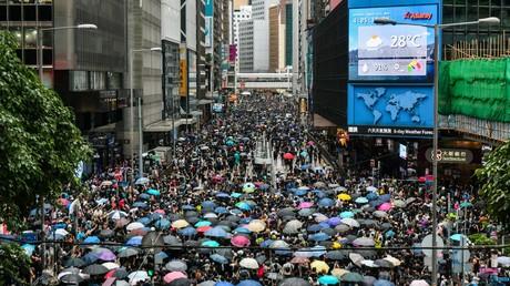 Demonstration im Zentrum Hongkongs am 31. August 2019. Die Proteste in der chinesischen Sonderverwaltungszone dauern an und richten sich immer deutlicher direkt gegen China.