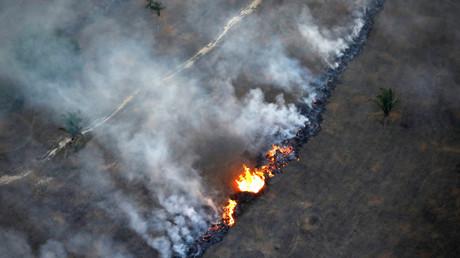 Feuer im Amazonas Regenwald, Rondonia, Brasilien, 10. September 2019.