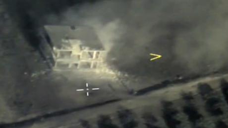 Russland, China: Veto gegen Resolution des UN-Sicherheitsrates zum Schutz von Terroristen in Syrien (Archivbild 1. August 2019: Angriff der Luft- und Weltraumkräfte Russlands auf Ziele der Terrormiliz