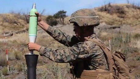 Screenshot aus dem Video der Marines der Weapons Company, die die 81mm-