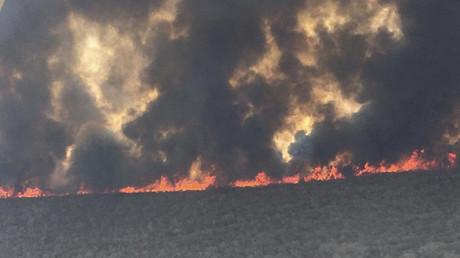 Aufnahme von den Bränden im bolivianischen Amazonasgebiet von San José de Chiquitos in Santa Cruz am 9. September 2019.