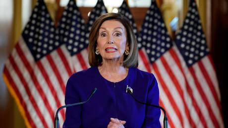 Die Vorsitzende des US-Repräsentantenhauses und US-Demokratin Nancy Pelosi, New York, USA, 24. September 2019.