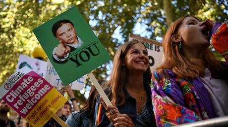 Klimaaktivisten am vergangenen Freitag in London