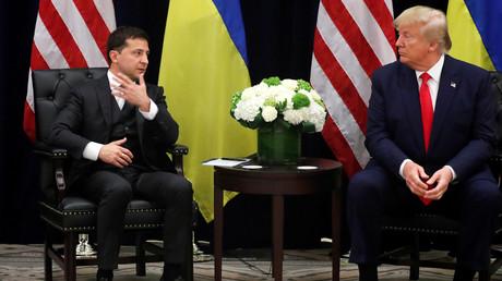 Trump und Selenskij bei ihrem Treffen am Mittwoch in New York