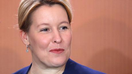 Franziska Giffey während einer Kabinettssitzung in Berlin, 18. September 2019