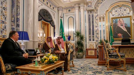 US-Außenminister Mike Pompeo zu Besuch im Palast Al-Salam bei König Salman bin Abdulaziz in Dschidda am 24. Juni.