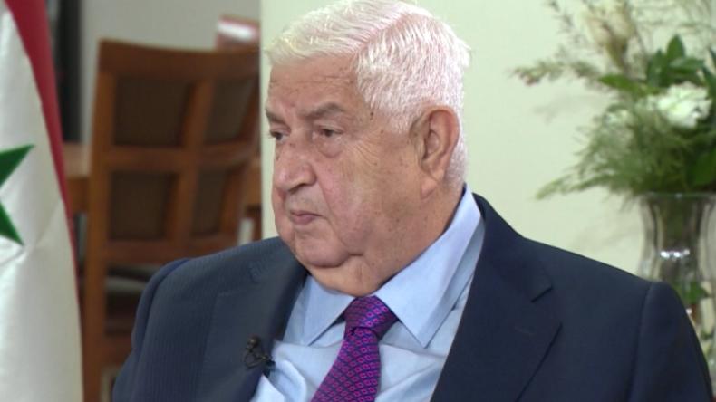 """Syrischer Außenminister: """"Wir wollen unser Land wieder aufbauen und heißen jede Hilfe willkommen"""""""