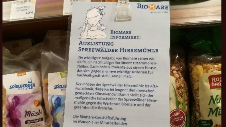 Leipziger Bioladen listet Zulieferer aus – weil dessen Inhaber AfD-Politiker ist