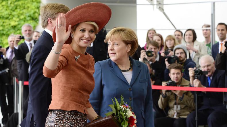 """""""Welcher Franz?"""" Merkel steht bei Treffen mit niederländischer Königin Máxima auf dem Schlauch"""