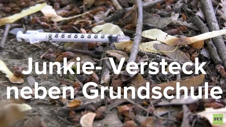 Wo gespritzt und gecampt wird: Junkie-Versteck direkt neben Berliner Grundschule (Video)