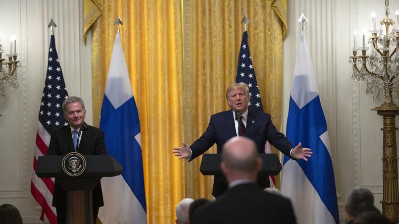 """Trump bei Pressekonferenz sichtlich genervt: """"Biden und dessen Sohn sind eiskalt korrupt"""""""