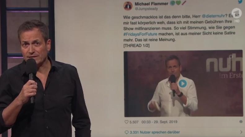 Mit Greta Thunberg in den Dritten Weltkrieg: Dieter Nuhr legt nach