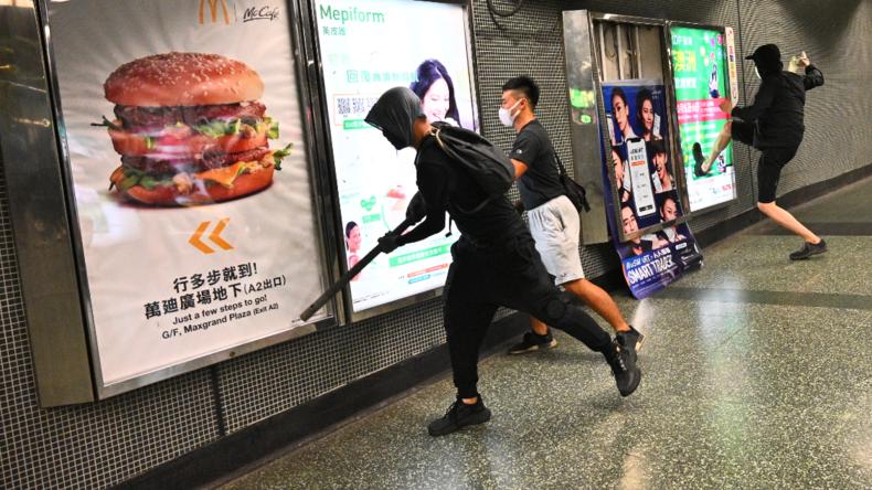 "Hongkong schließt ""Hilfe aus Peking"" nicht mehr aus"