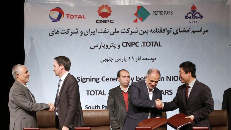 China knickt vor USA ein und zieht sich aus Milliarden-Gasprojekt im Iran zurück