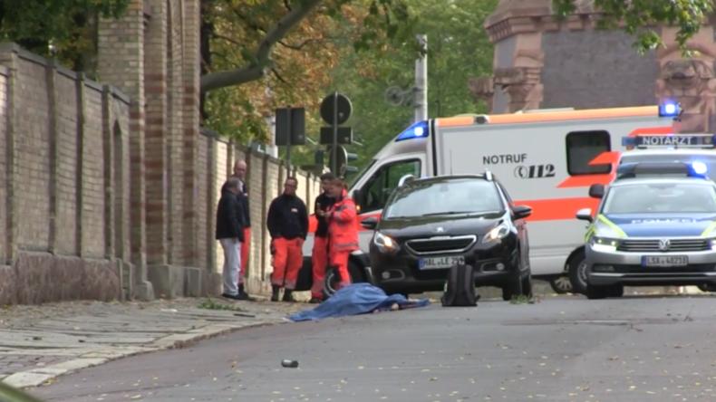 Blutbad in Halle: Nach mindestens zwei Toten – Massive Polizeioperation zur Tätersuche