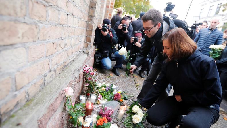 LIVE: Halle trauert um die Opfer des gestrigen Terroranschlags mit zwei Toten