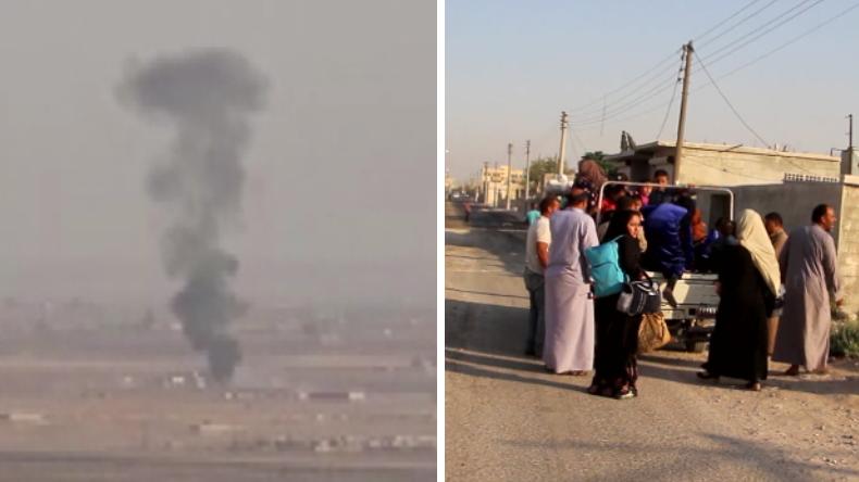 Syrien: Türkei bombardiert Kurdengebiete – Zivilisten fliehen aus Grenzregion