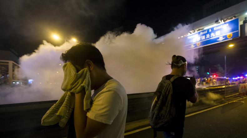 US-Firma wegen Export von Tränengas für Hongkonger Sicherheitskräfte unter Beschuss